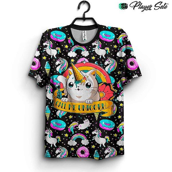Camiseta 3d Full Unicórnio Cute