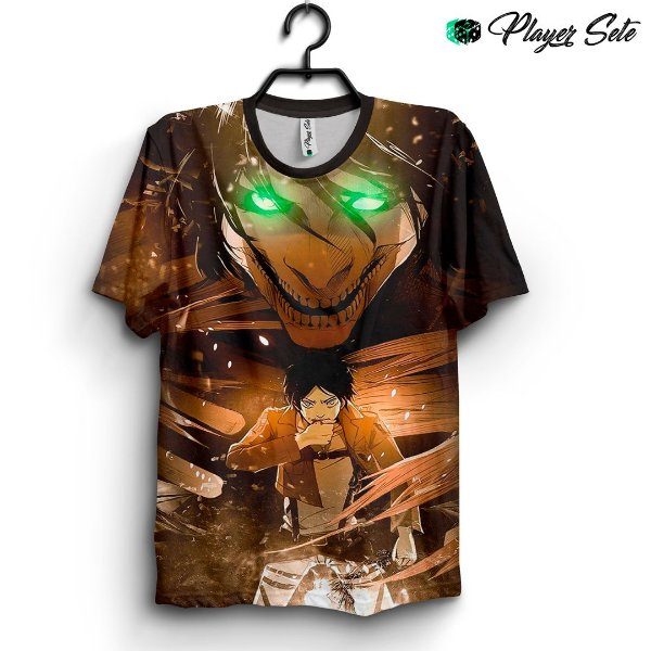 Camiseta 3d Full Anime Attack On Titan Eren