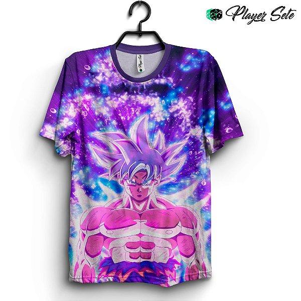 Camiseta 3d Full Dragon Ball Goku Neon Colors