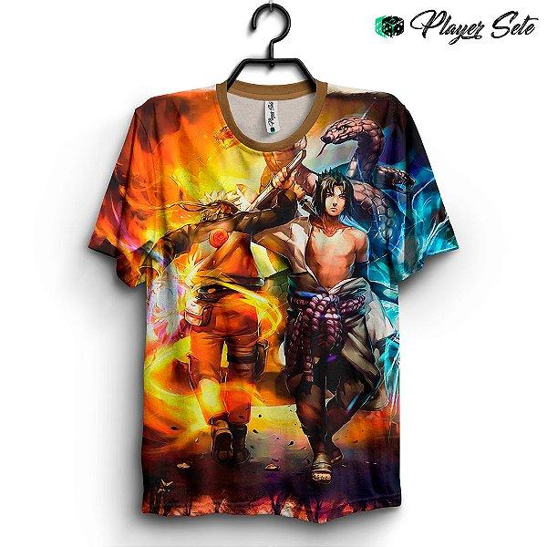 Camiseta 3d Full Anime Naruto E Sasuke