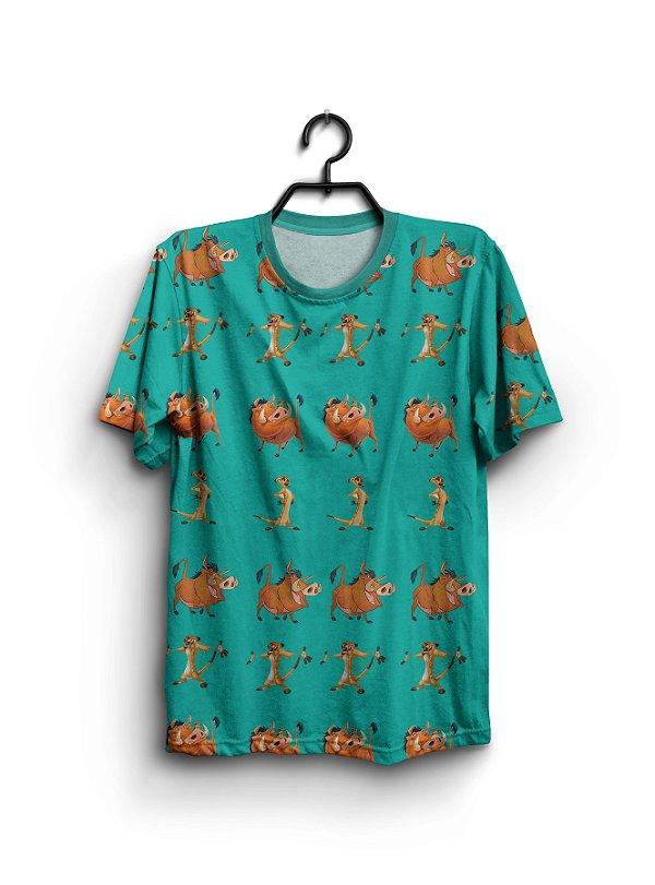 Camiseta 3d Full Timão E Pumba Rei Leão