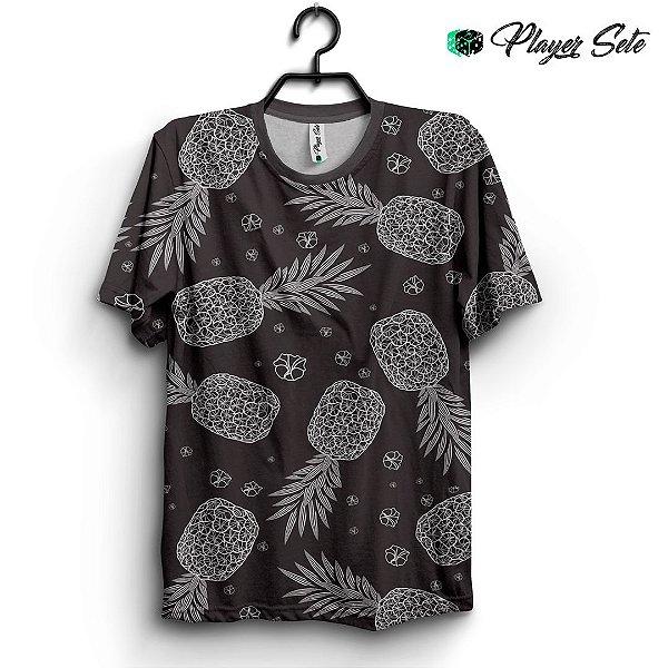 Camiseta 3d Full Black Pineapple