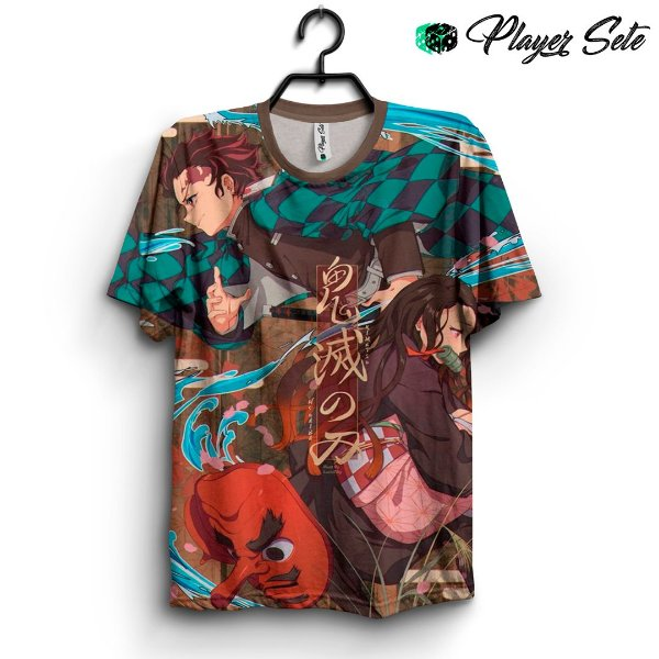 Camiseta 3d Full Anime Kimetsu no Yaiba