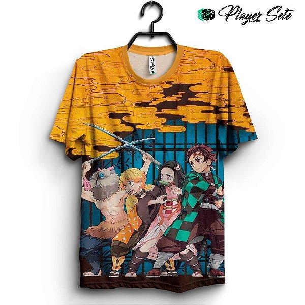 Camiseta 3d Full Anime Kimetsu no Yaiba Personagens