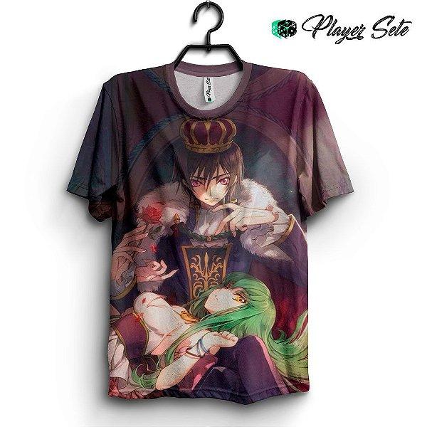 Camiseta 3d Full Anime Code Geass C.C.