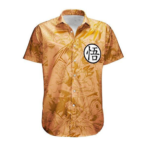 Camisa Praia Summer Verão Dragon Ball