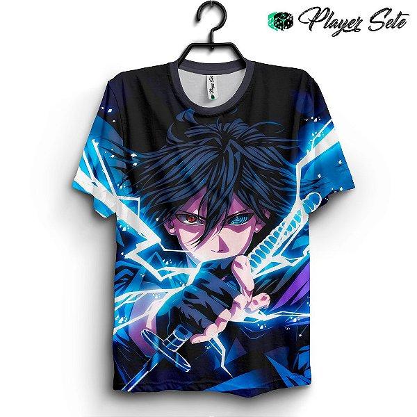 Camiseta 3d Full Anime Naruto Sasuke