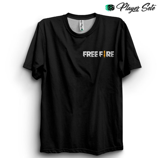 Camiseta Básica Unissex Jogo Free Fire Logo
