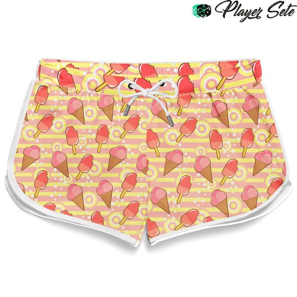 Short Feminino Sorvete Ice Cream