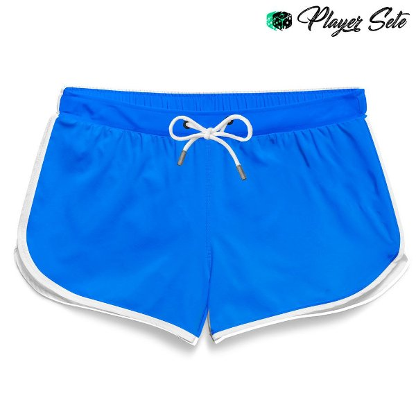 Short Feminino Liso Light Blue