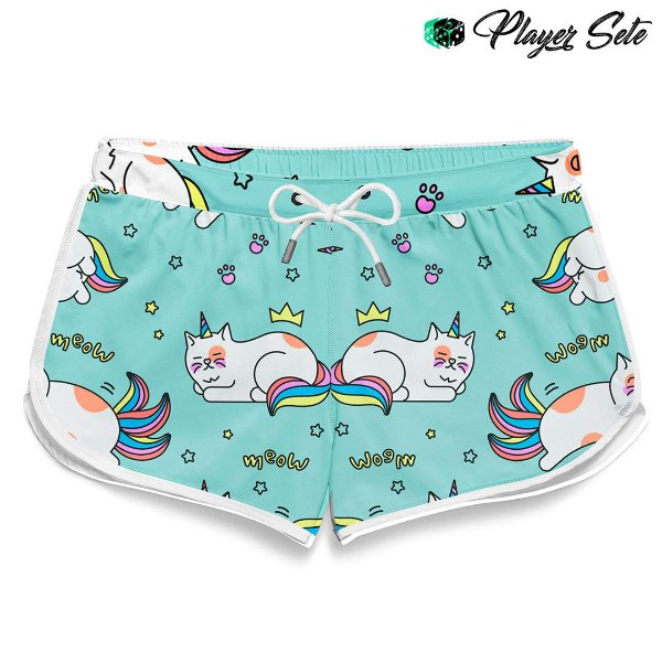 Short Feminino Praia Cat Sleep