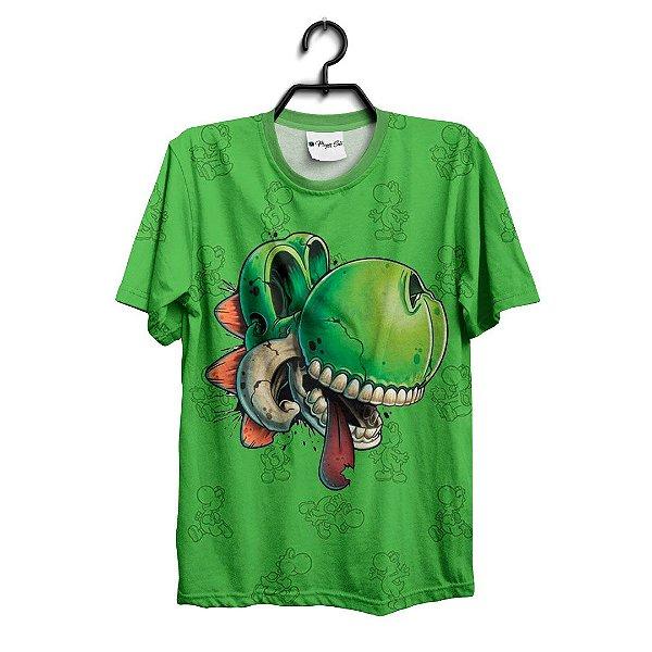 Camiseta 3D Full Jogo Mario Yoshi