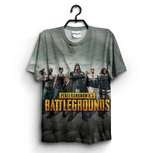 Camiseta 3D Full Jogo Pubg Battlegrounds