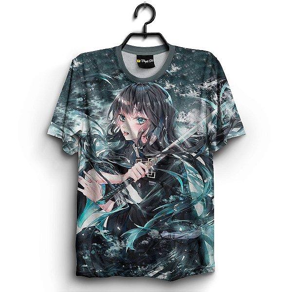 Camiseta 3d Full Anime Kimetsu no Yaiba Muichiro