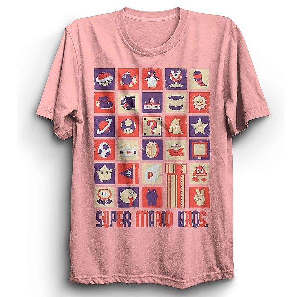 Camiseta Básica Jogo Super Mario Nostalgia