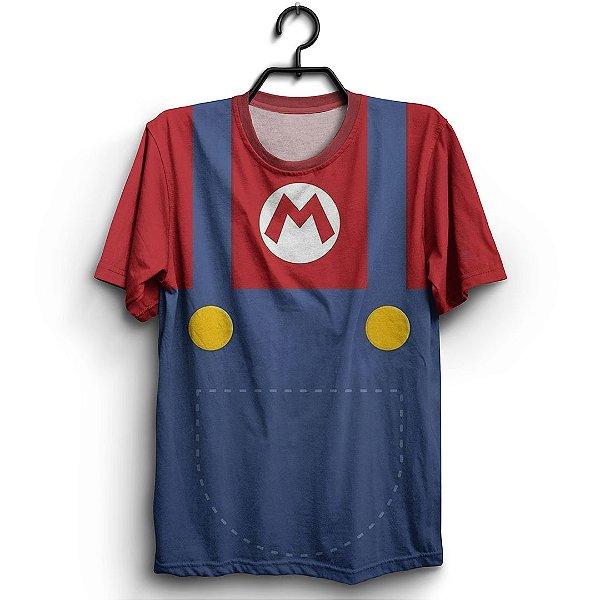 Camiseta 3d Full Jogo Mario Uniforme