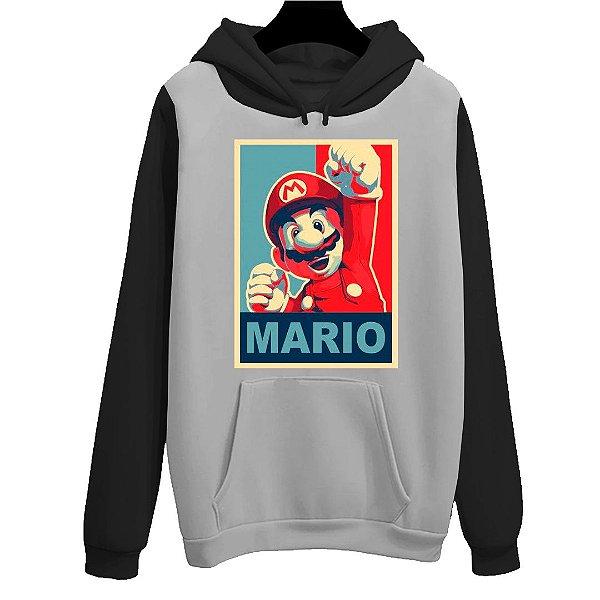 Blusa Moletom Canguru Jogo Mario Bross