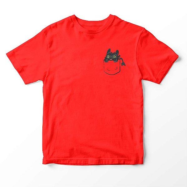 Camiseta Infantil Filme Como Treinar O Seu Dragão Pocket