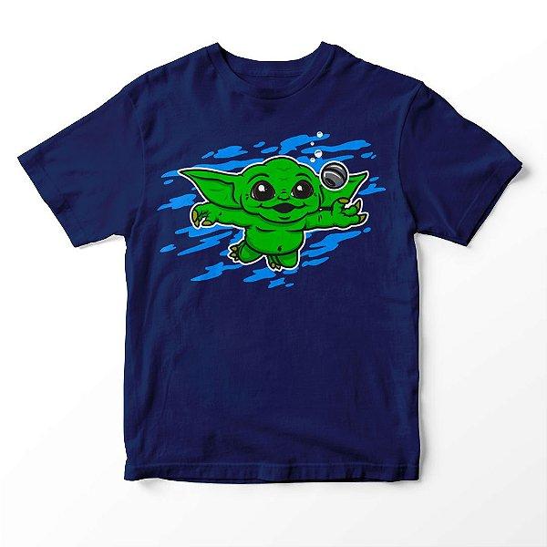 Camiseta Infantil Baby Yoda Nirvana