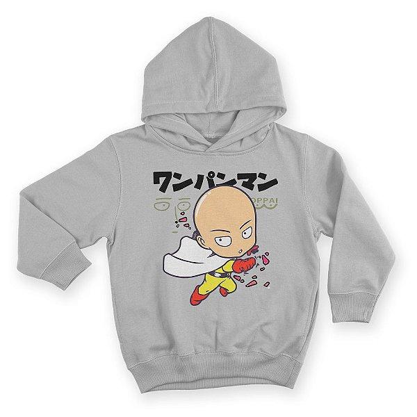 Moletom Com Capuz Infantil Anime One Punch Man