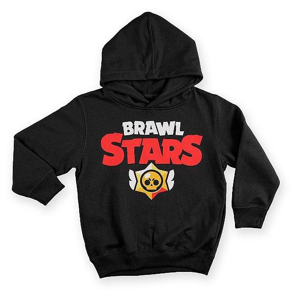 Moletom Com Capuz Infantil Jogo Brawl Stars Logo