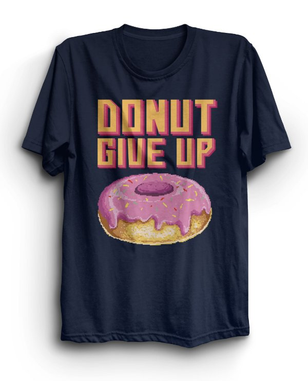 Camiseta Básica Donut Give Up