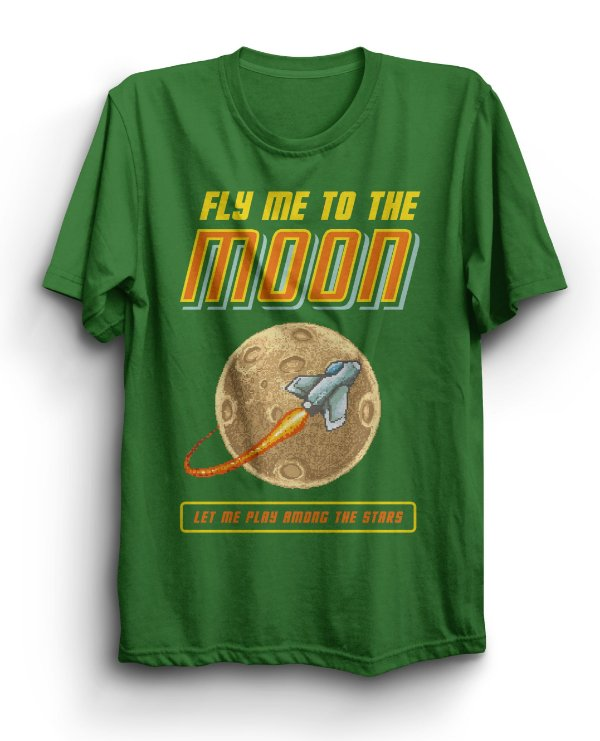 Camiseta Básica Fly To The Moon