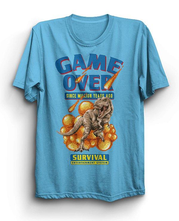 Camiseta Básica Game Over Dino