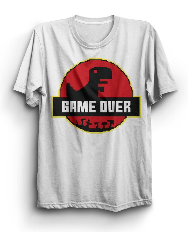 Camiseta Básica Game Over Internet