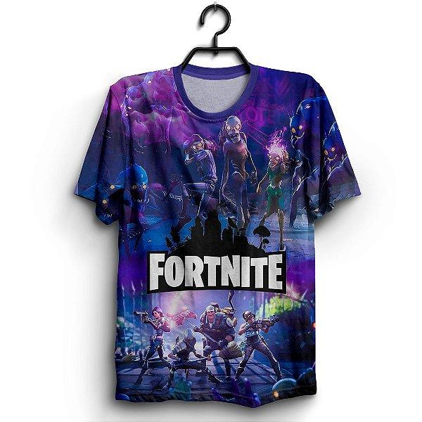 Camiseta 3d Full Jogo Fortnite Zombie