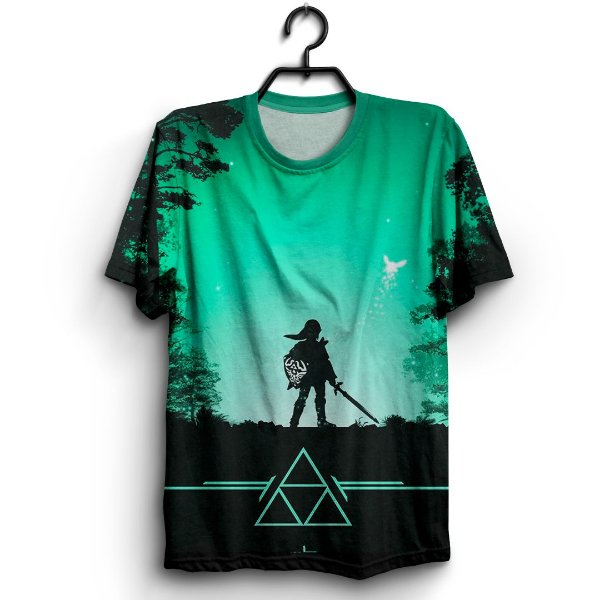 Camiseta 3D Full Jogo The Legend of Zelda