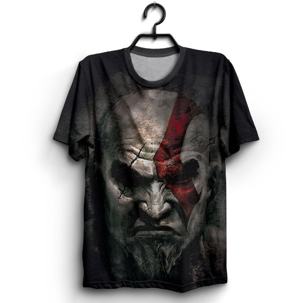 Camiseta 3D Full Jogo God Of War Kratos