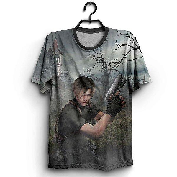 Camiseta 3d Full Jogo Resident Evil Leon