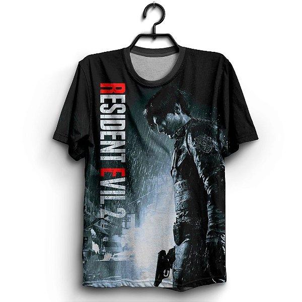 Camiseta 3d Full Jogo Resident Evil 2
