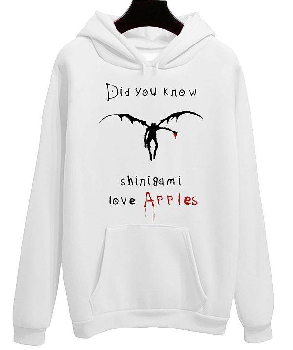 Blusa Moletom Canguru Anime Death Note Shinigami Love Apples