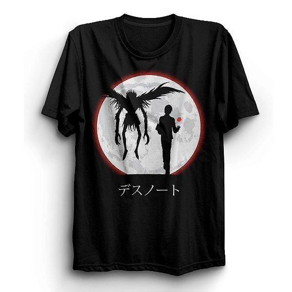 Camiseta Básica Anime Death Note Moon