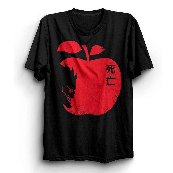 Camiseta Básica Anime Death Note Maçã