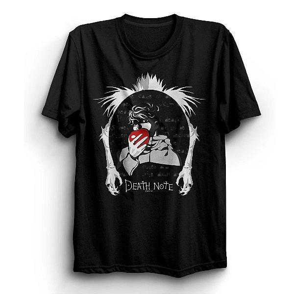 Camiseta Básica Anime Death Note Kira