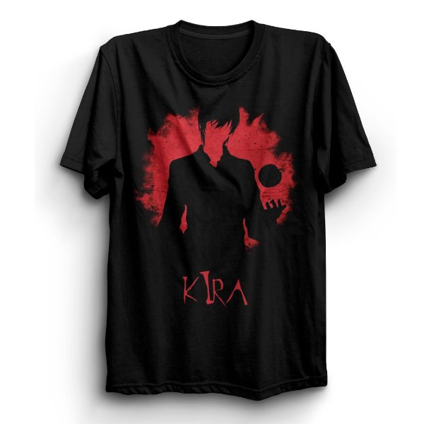 Camiseta Básica Anime Death Note Kira Apple