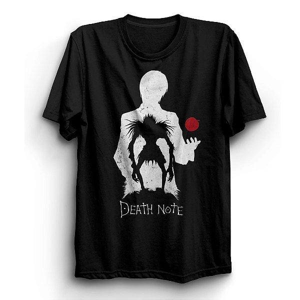 Camiseta Básica Anime Death Note Kira And Shinigami
