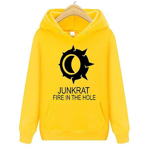 Blusa Moletom Canguru Jogo Overwatch Junkrat