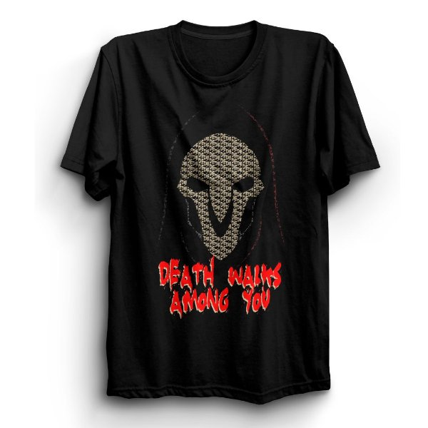 Camiseta Básica Jogo Overwatch Reaper Death