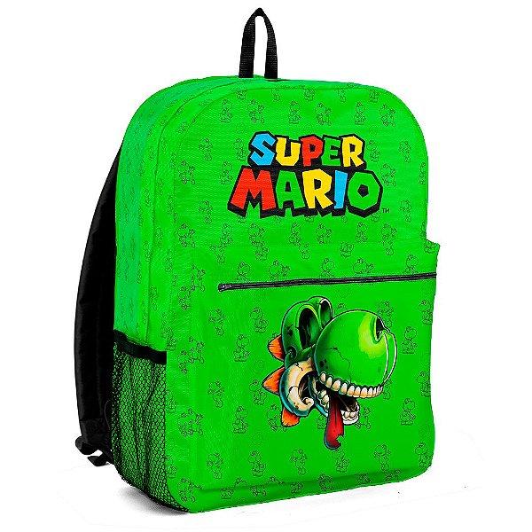Mochila Bolsa Escolar Jogo Mario Bros Yoshi