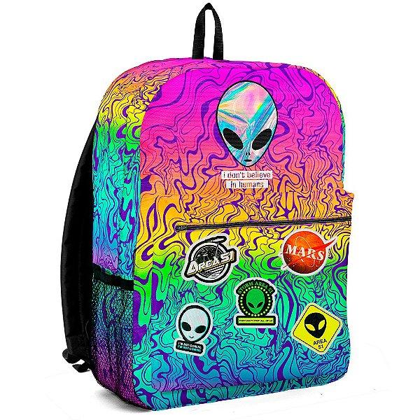 Mochila Bolsa Escolar Area 51 Aliens