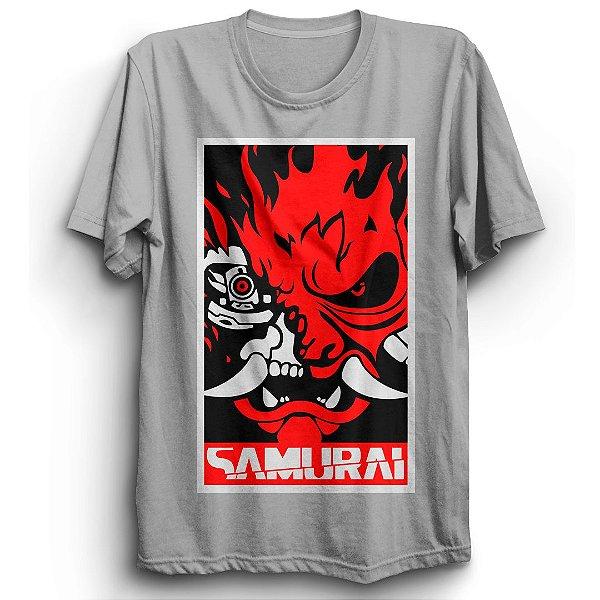 Camiseta Básica Jogo Cyberpunk Samurai