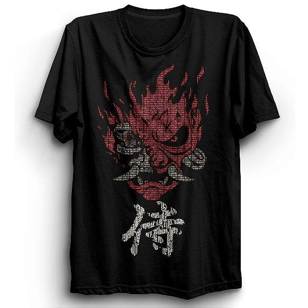 Camiseta Básica Jogo Cyberpunk 2077 Samurai Red