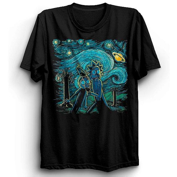 Camiseta Básica Desenho Rick Gogh