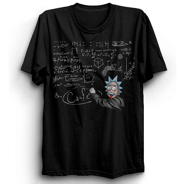 Camiseta Básica Desenho Rick Einstein