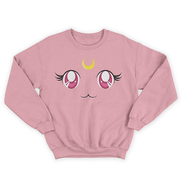 Moletom Gola Redonda Sailor Moon Anime Eyes Cat