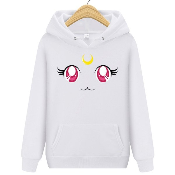Blusa Moletom Canguru Anime Sailor Moon Eyes Cat